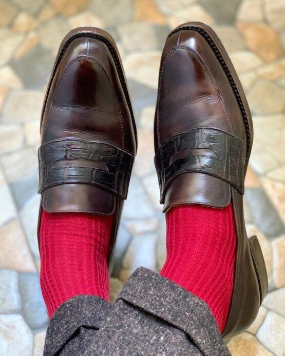 red cotton viccel socks