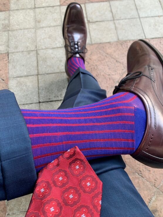 viccel royal blue red shadow over the calf socks gift for dad