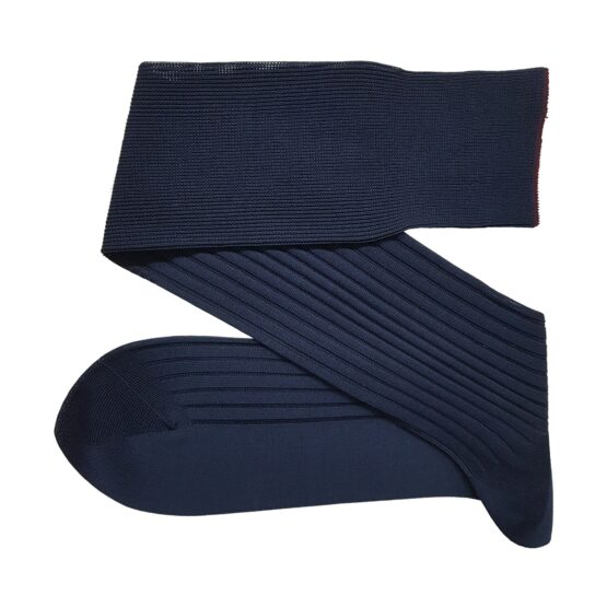 navy blue cotton socks