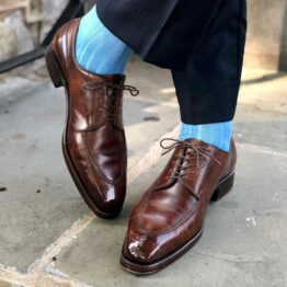 viccel sky blue textured daimond luxury socks dress socks
