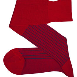 Viccel Socks - Red Royal Blue Shadow Over the calf socks