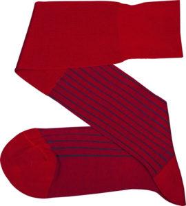 viccel socks - Red Royal blue