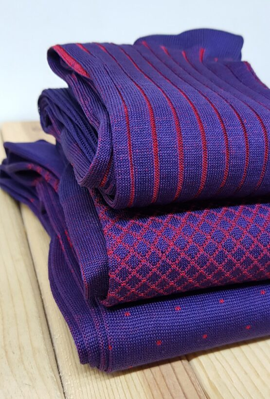 viccel Purple cotton socks