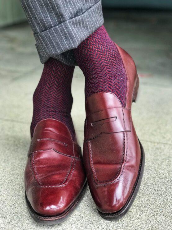 Viccel Herrinbone Cotton Luxury dress socks casual socks comfortable socks fine socks