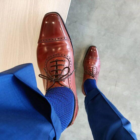 navy blue herringbone socks