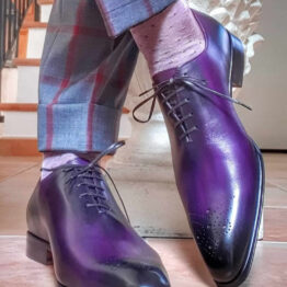 Viccel Socks Pin dots pink cotton socks over the calf over the knee pindot burgundy
