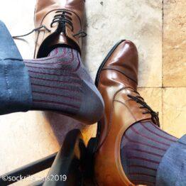 gray burgundy viccel shadow over the calf socks luxury socks best socks