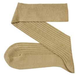 viccel beige cable knir socks