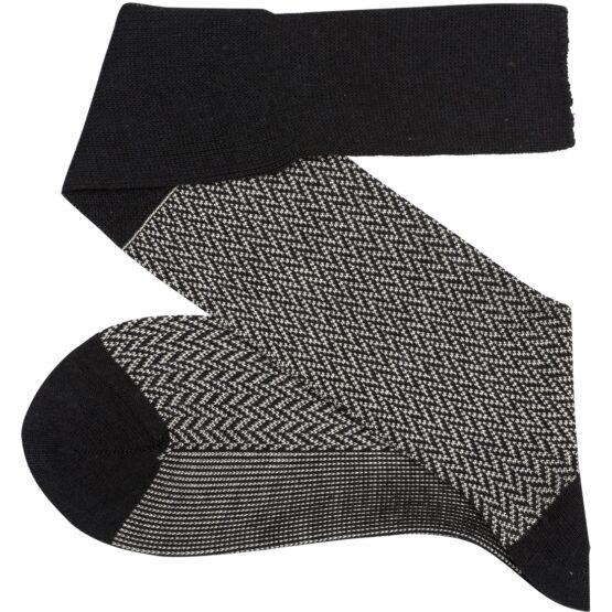 Viccel Socks herringbone wool socks winter socks luxury socks over the calf socks silk socks
