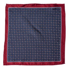 100 silk pocket square paisley