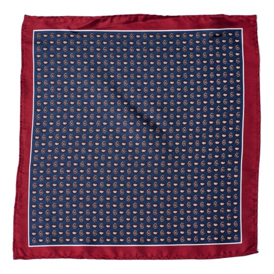 100 silk pocket square paisley