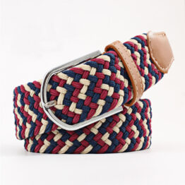elastic mens belt no hole need turqouse Cream Red navy