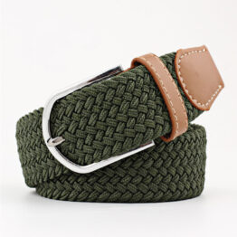 elastic mens belt no hole need Green