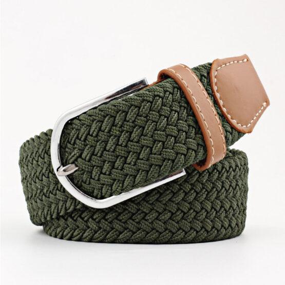 elastic mens belt no hole need Green