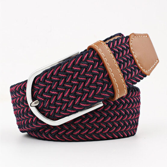elastic mens belt no hole need turqouse Navy blue red
