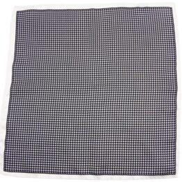 100 silk pocket square polka dots white black houndstooth