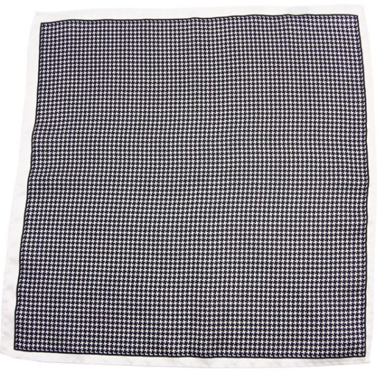 100 silk pocket square polka dots white black houndstooth