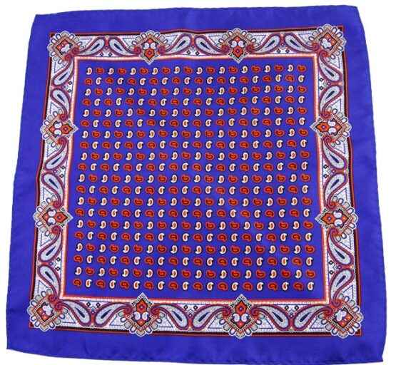 100 silk paisley pocket square