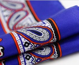 100 silk paisley pocket square