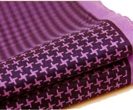 100 silk pocket square polka dots white purple houndstooth
