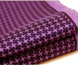 100 silk pocket square polka dots white purple houndstooth