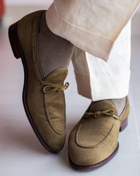 Viccel Brown beige shadow socks