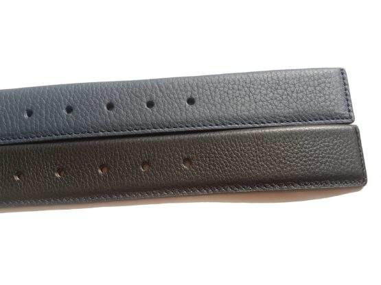 Navy Blue genuine leather belts