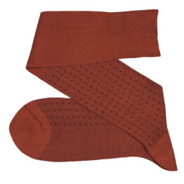 Taba Burgundy over the calf over the knee cotton socks luxury gift for him