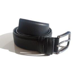 black genuine leather belts