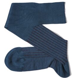 navyblue Burgundy shadow luxury socks gift for him