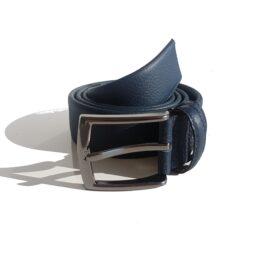 Navy Blue genuine leather belts