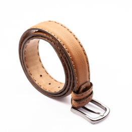 Double Snitch Leather Belt Viccel Belts Luxury Leather Belt
