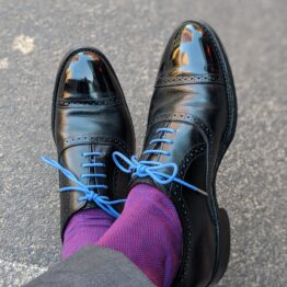 Viccel Royal Blue Red Luxury birdseye socks