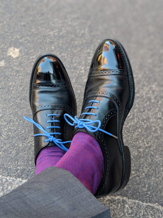 Viccel Royal Blue Red Luxury birdseye socks