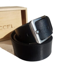 Casual black leather belts 100%leather