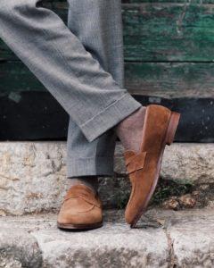 brown beige birdseye viccel over the calf socks