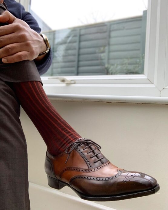 viccel brown shadow cotton socks
