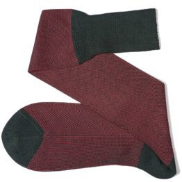 Dark green birdseye over the calf cotton luxury socks Viccel socks
