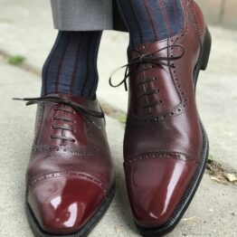 navyblue Burgundy shadow luxury socks gift for him father day