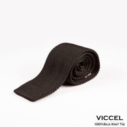 viccel silk tie knit tie gift for him dress tie luxury tie black