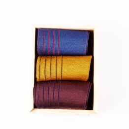 burgundy mustard Royal Blue shadow cotton socks gift socks