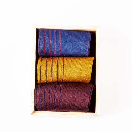 burgundy mustard Royal Blue shadow cotton socks gift socks