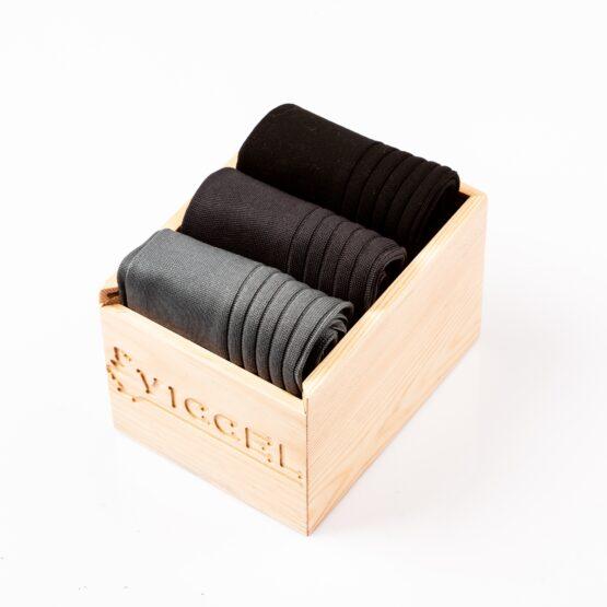 gray Charcaol Black dress socks gift socks gift box