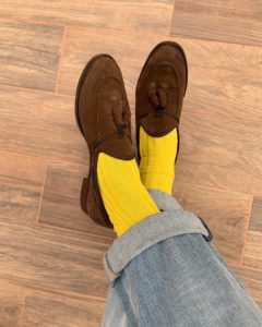 Viccel Canary Yellow Ribbed Socks Luxury socks gift socks
