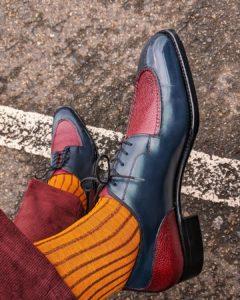Viccel Mustard Brown Shadow cotton luxury socks