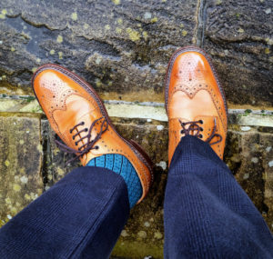Viccel Socks Black Blue Ribbed pin Luxury Socks