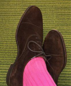 viccel pink ribbed socks