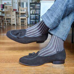 Viccel Charcoal Gray Shadow cotton socks