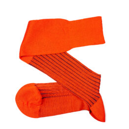 Viccel Orange Royal Blure shadow over the calf luxury socks