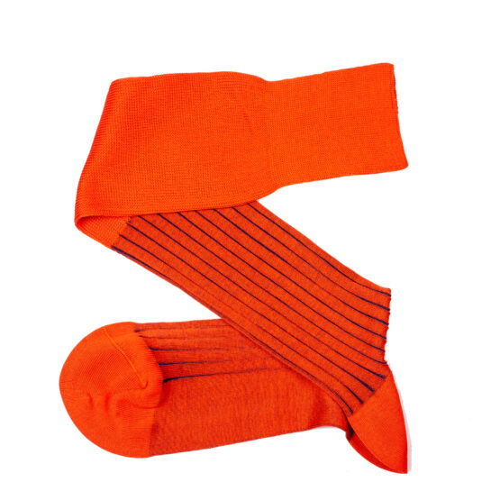 Viccel Orange Royal Blure shadow over the calf luxury socks